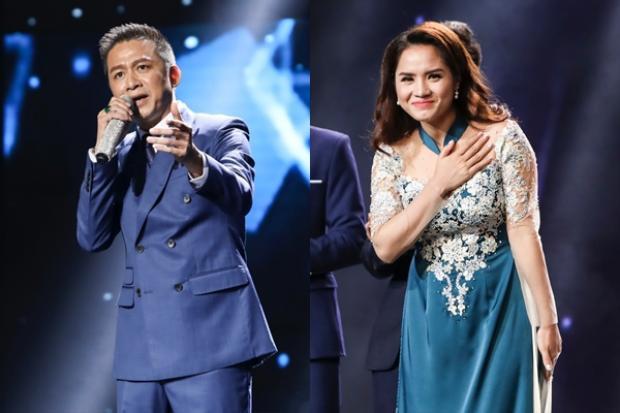 """Quang Long và Nhã Thanh cũng được các fan của """"anh Ba"""" Ngọc Sơn nhiệt tình bình chọn."""