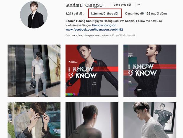 Soobin có 1,2 triệu fan trên Instagram.