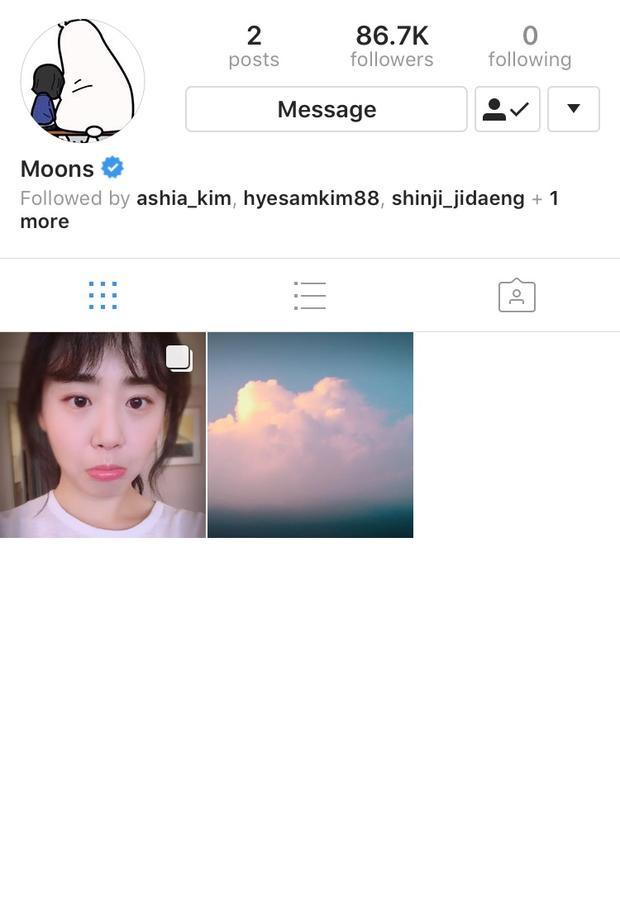 Tấm hình cuối cùng Moon Geun Young đăng tải là vào tháng 10/2017.
