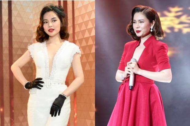 … khá giống với phong cách của Giang Hồng Ngọc tại Cặp đôi Hoàn hảo 2017.