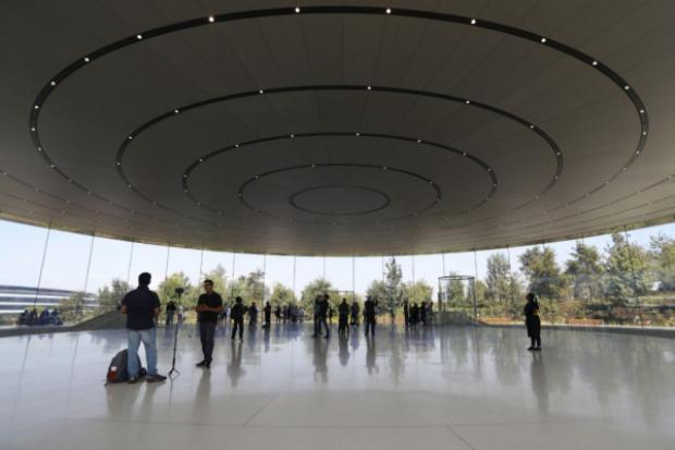 """Trụ sở mới hình """"tàu vũ trụ"""" của Apple."""