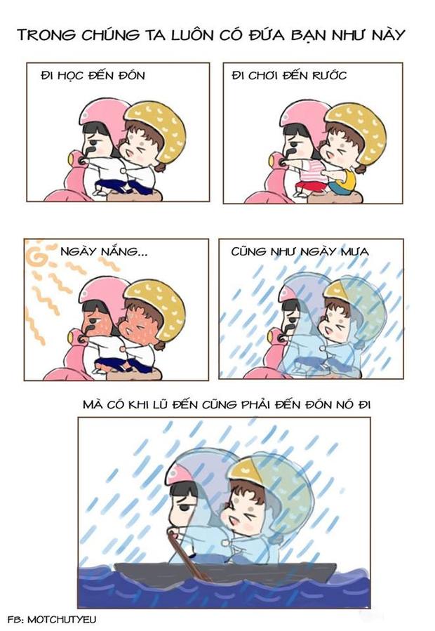 Thanh xuân của chúng ta luôn có một tài xế riêng, đưa đón đi học đi chơi bất kể nắng mưa