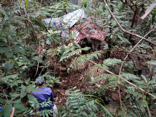 Vị trí tìm thấy thi thể nạn nhân.