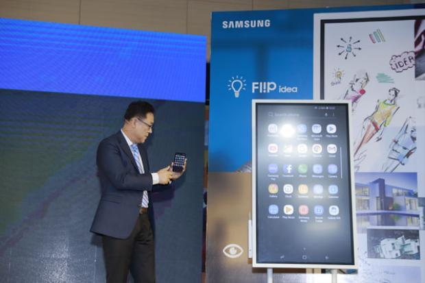 Samsung ra mắt bảng tương tác thông minh Samsung Flip WM55H tại Việt Nam