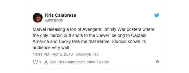 Fan dành hết sự chú ý cho mông của Captain America và Bucky trong poster Infinity War