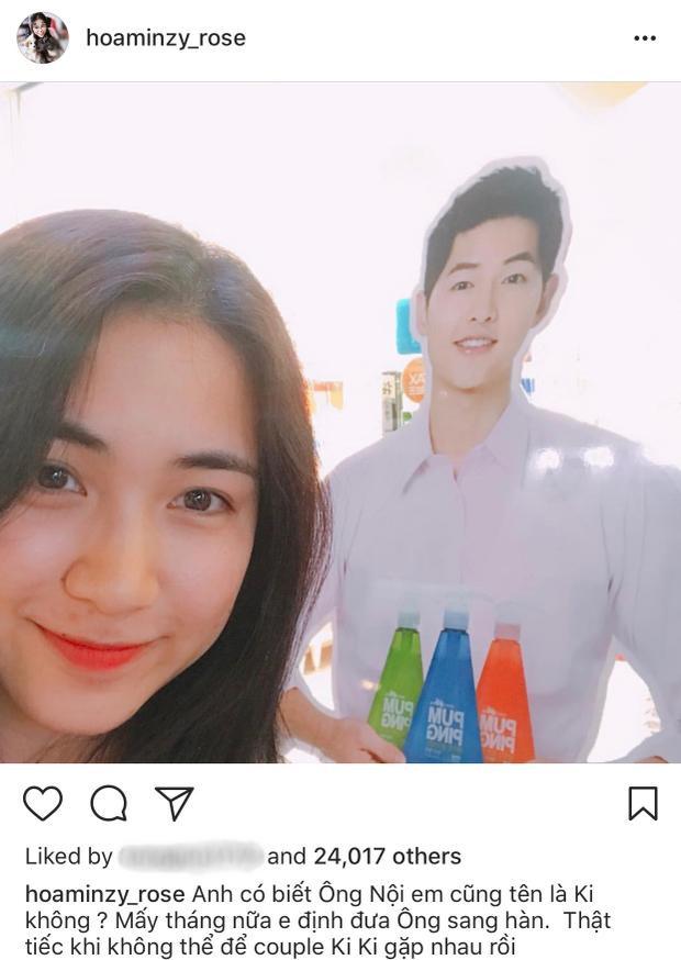 """Hoà """"tỏ tình"""" với Song Joong Ki mọi lúc mọi nơi."""