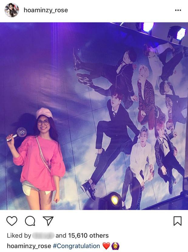 Hoà Minzy tại concert của BTS.