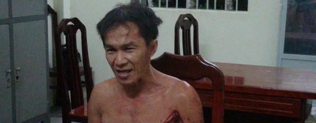 Nghi phạm Nguyễn Thanh Tâm tại cơ quan công an - Ảnh: THÀNH NHƠN