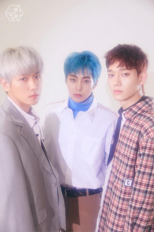 EXO-CBX gồm 3 thành viên Baekhyun, Xiumin và Chen.
