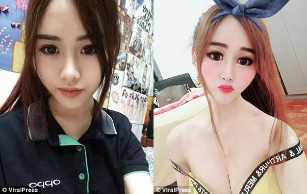 """Khuôn mặt trước và sau thời gian vắng bóng trên mạng xã hội của """"Barbie Cammy"""". Ảnh: ViralPress"""
