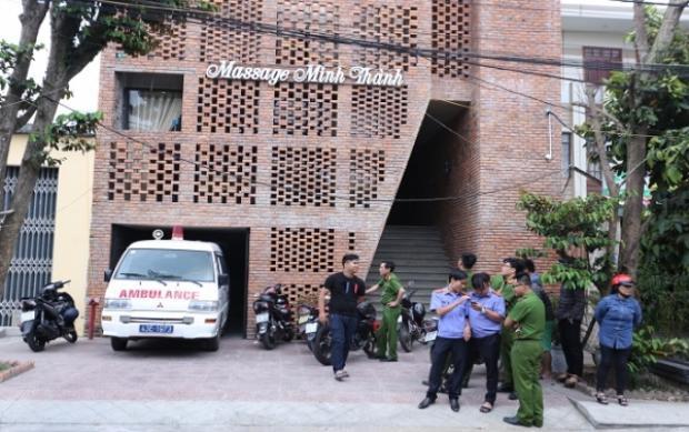 Tiệm massage nơi xảy ra vụ việc.