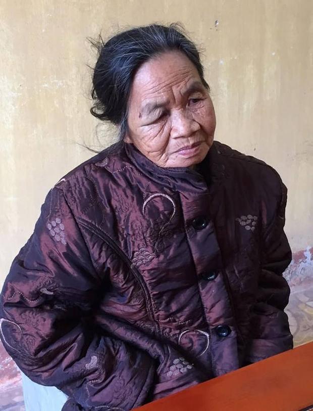 Bà Nguyễn Thị Nga tại cơ quan điều tra.