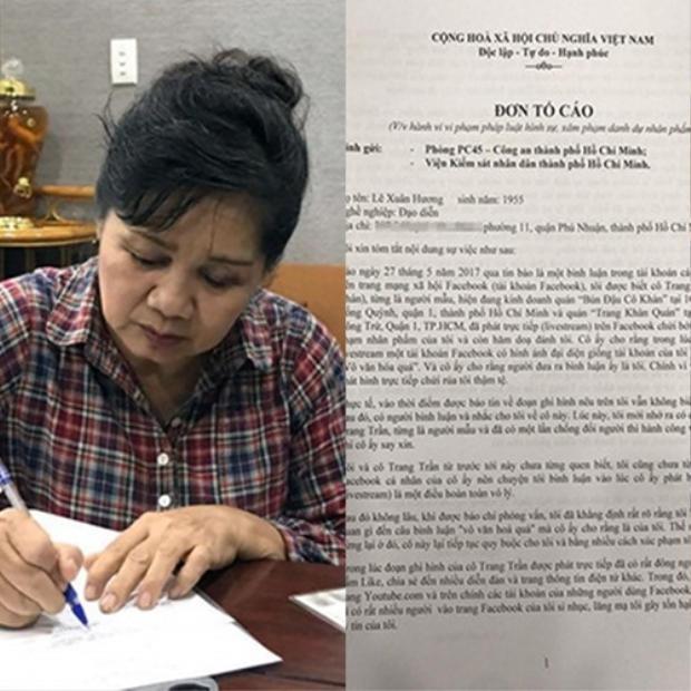 Nghệ sĩ Xuân Hương từng đâm đơn kiện Trang Trần.