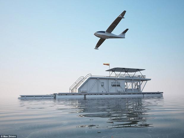 Khu đỗ xe trên căn nhà thuyền này đủ chỗ cho cả một chiếc máy bay.