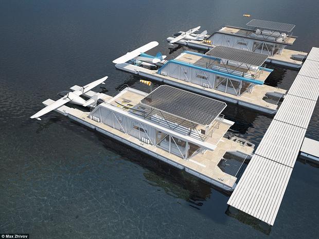 Trên nóc nhà là tấm thu năng lượng mặt trời kích cỡ khổng lồ, giúp cho ngôi nhà trở nên thân thiện với môi trường.