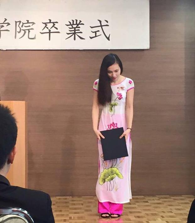 Hình ảnh Hòa khi còn đang theo học tại Nhật Bản.