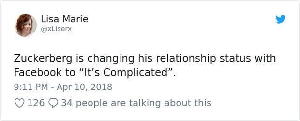 """Zukerberg sắp phải sửa tình trạng quan hệ với Facebook là """"Phức tạp""""."""