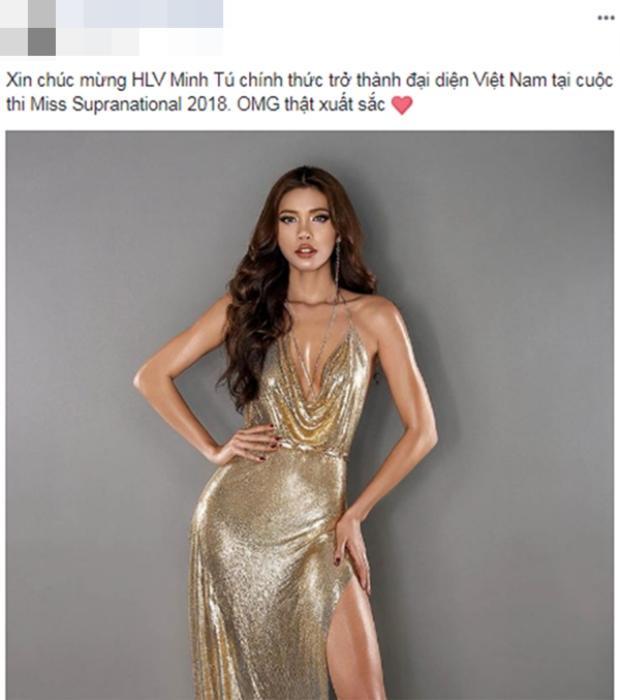 Các fan cho rằng Minh Tú là ứng viên có đủ tố chất để tỏa sáng tại Hoa hậu Siêu quốc gia.