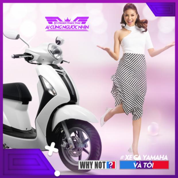 Bông hậu Phạm Hương đã yêu xe tay ga Yamaha, còn bạn thì sao?