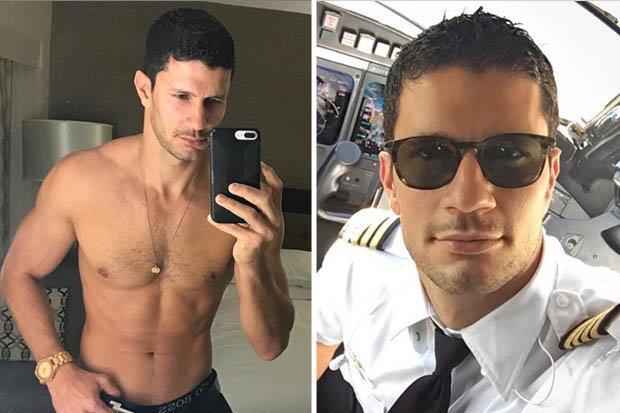 Chàng phi công nổi tiếng mạng xã hội nhờ những bức hình khoe thân nóng bỏng.