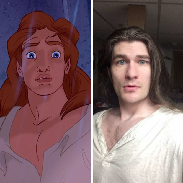 Nhiều người nói Jeffrey giống như một chàng hoàng tử trong phim hoạt hình của Disney. Ảnh: BoredPanda