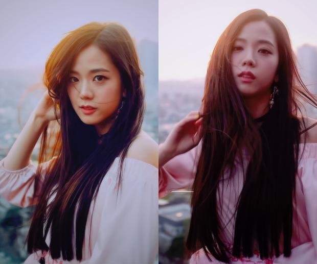 Vẻ đẹp của Jisoo được đánh giá là một chín một mười với nữ thần hàng đầu Irene (Red Velvet).
