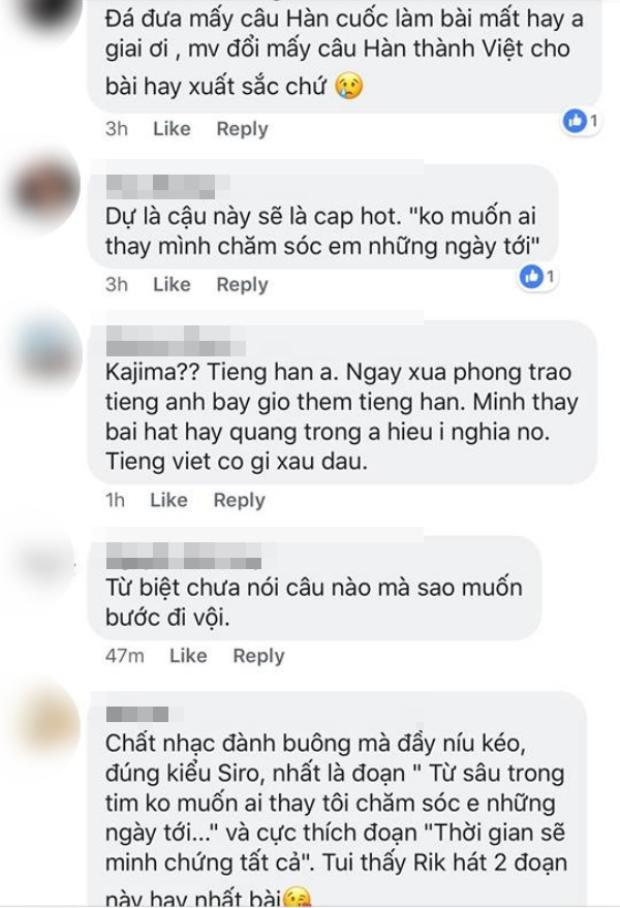 Một số khán giả cho rằng bài hát sẽ hay hơn nếu khán giả hiểu được ý nghĩa và yêu cầu chủ nhân Việt hóa toàn bộ phần lời.