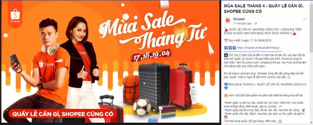 Post giới thiệu chính thức trên fanpage của Shopee Việt Nam.