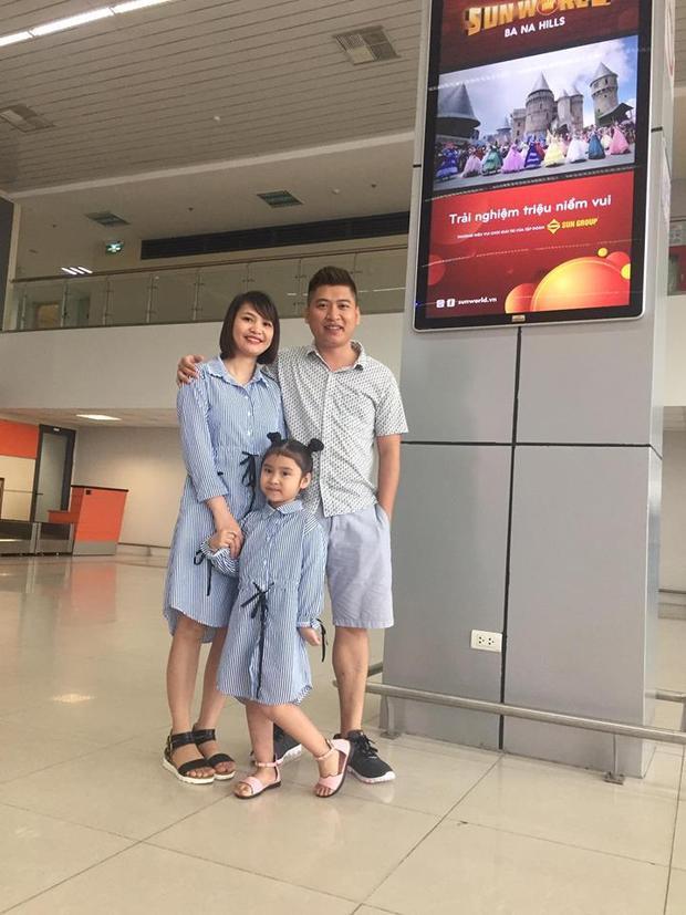 Anh Tuân cùng vợ và con gái. Ảnh: NVCC.