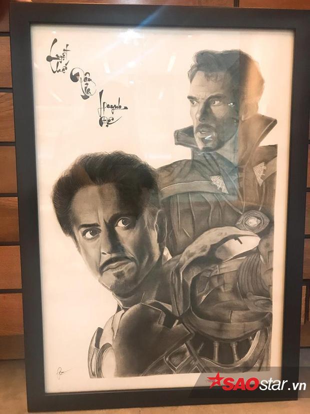 Tranh chì Dr. Strange & Iron Man