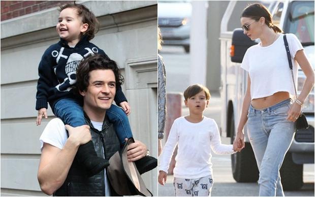 """Flynn Christopher Bloom - kết tinh tình yêu của cặp đôi """"tài sắc vẹn toàn"""" Orlando Bloom và Miranda Kerr nên thừa hưởng gần như trọn vẹn vẻ đẹp của đấng sinh thành. Tuy cả bố và mẹ cậu bé đều đã có cuộc sống mới sau ly hôn nhưng vẫn dành cho Flynn đủ đầy tình yêu thương."""