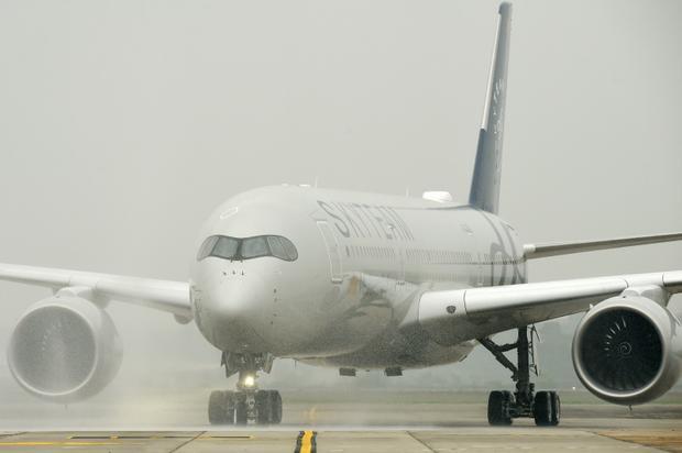 Lễ phun nước chào đón máy bay