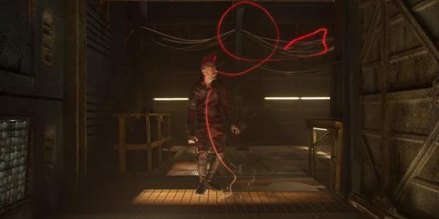 """Kraglin không thể điều khiến mũi tên Yaka nên vô tình khiến Drax bị """"dính chưởng""""."""