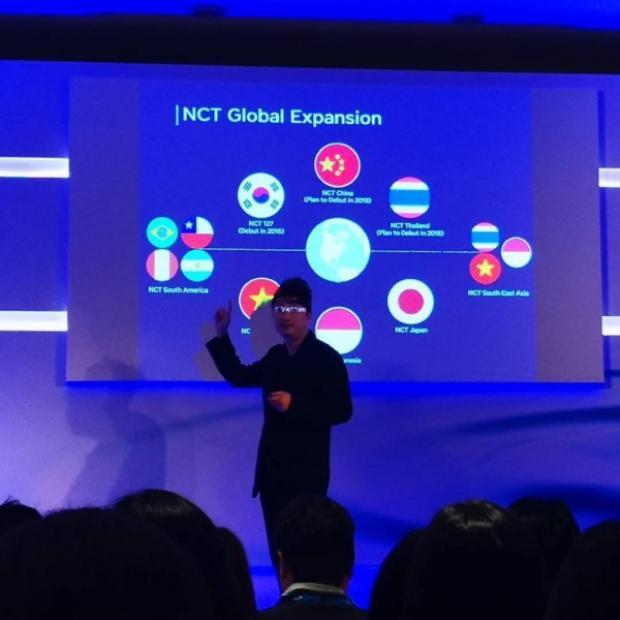 Hội nghị đầu tư Credit Suisse Châu Á diễn ra vào ngày 21/, CEO của SM C&C và SM Picture - ông Nikki Semin Han đã giới thiệu với các nhà đầu tư về mô hình của NCT.