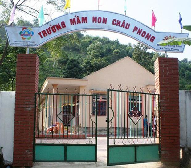 Trường mầm non Châu Phong, nơi xảy ra sự việc.