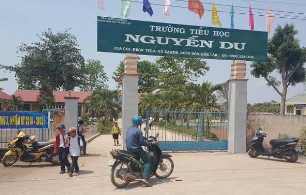 Ngôi trường xảy ra vụ việc. Ảnh: Vietnamnet