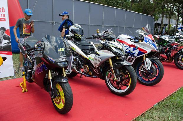 Đây là một số chiếc Môtô tham gia vào cuộc thi độ xe đẹp.