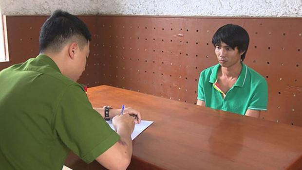 Nghi phạm Trần Văn Cửu tại Cơ quan Cảnh sát điều tra Công an tỉnh Quảng Ninh. Ảnh: Thanh niên.