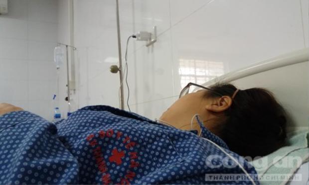 Nữ sinh G. bị hành hung. Ảnh: Công an TP.HCM