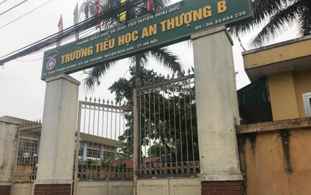 Trường tiểu học An Thượng B nơi xảy ra sự việc.
