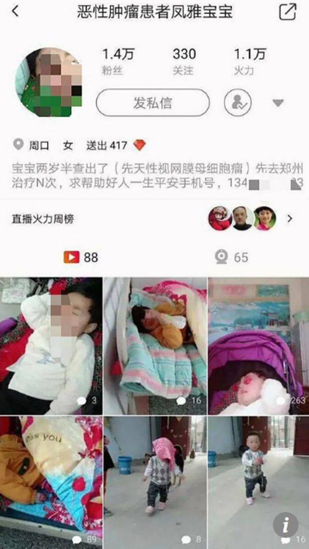Cặp vợ chồng chia sẻ ảnh con trên mạng xã hội để gây quỹ.