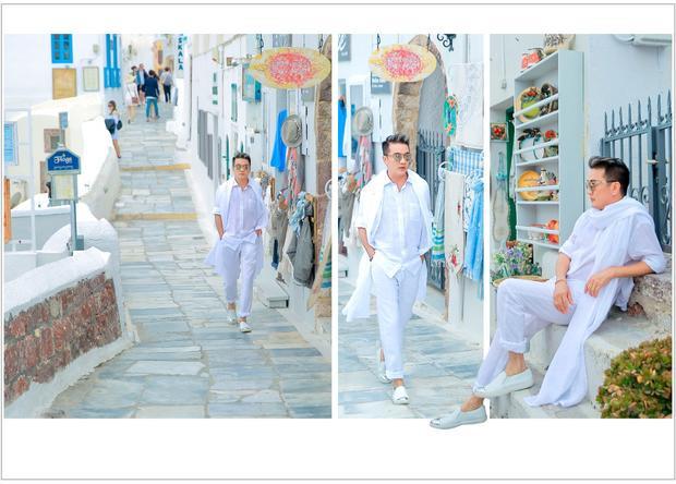 Đàm Vĩnh Hưng tung bộ ảnh tại Santorini đẹp đến nao lòng.