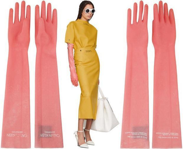 Đương nhiên, khoác lên người cô người mẫu với thể hình lý tưởng và thần thái ăn ảnh hết sức thì cặp găng tay này trông cũng hay hay. Tuy nhiên, bạn có cảm thấy nó rất quen không?