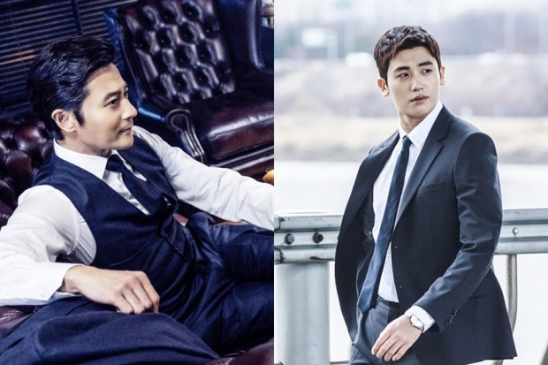 Mặt khác, trong 'Suits', 'tiền bối' Jang Dong Gun và Hyung Sik khác nhau về độ tuổi, do đó họ trở thành những người đàn ông trưởng thành, có nụ cười lạnh lùng.