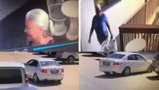 Hình ảnh cắt từ clip cho thấyRiess đang ở bên ngoài nhà hàng Smokin' Oyster Brewery. Hình ảnh lấy từ clip của Sở cảnh sát hạt Lee.