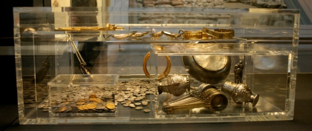 Reconstruction of the Hoxne treasure chest