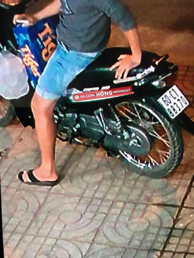 Biển số của xe 2 tên cướp được camera ghi lại. Ảnh Âu Nguyễn.