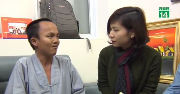 Ngọc Sang tại buổi chia sẻ với báo chí tại Trung tâm hiến tạng Quốc gia.