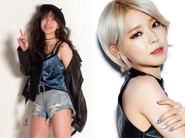 """Cô nàng rapper """"cáo nhỏ"""" đầy cá tính sinh năm 1991, chị cả ChoA sinh năm 1990 (đã rời nhóm)."""