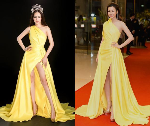 Có vẻ như vẻ đẹp cùng ngoại hình của top 8 Hoa hậu Trái đất chẳng thua kém thần sắc của top 40 Hoa hậu Thế giới. Nam Em đầy quyền lực trong khi đó Đỗ Mỹ Linh vẫn nữ tính, dịu dàng hết mức.